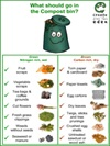 Poster - what should go in the compost bin