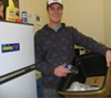 James from MoreFM recycling at work