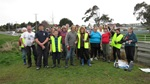 A group photo of the South Alive volunteers who cleaned up Kingswell Creek, Invercargill