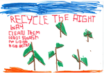Student poster on how to recycle