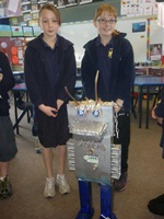 Waverley Park students made a robot out of reused materials