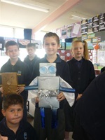 Waverley Park students made a 'recycle robot' from reused materials