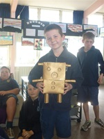A Waverley Park student made a koala robot out of reused materials