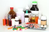 A collection of medicine - bottles, ointments, tablets, drops, pills, liquids
