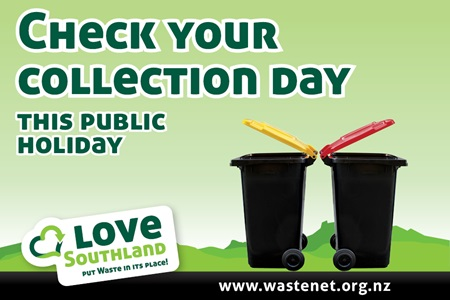 Check your collection day this public holiday